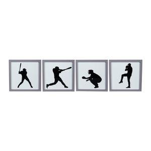 Set de 4 Portarretratos Sports Gris