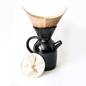 Cafetera Pour Over 1 Lt Negro Brilloso