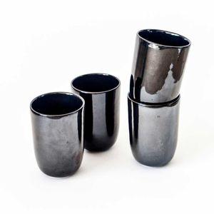 Set 2 Vasos 300 ML Negro Brilloso