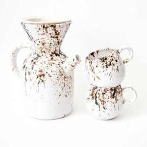 Kit Cafetera Pour Over 2tzas americano Caribe