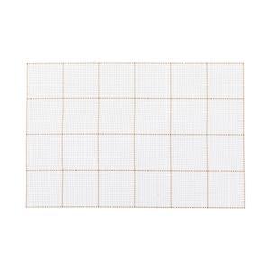 Mantel Individual Cuadros Blanco PVC