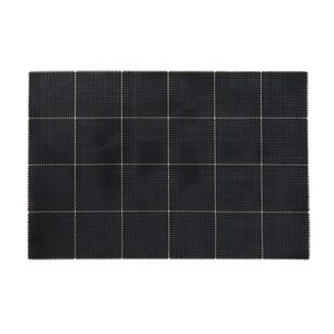 Mantel Individual Cuadros Negro PVC